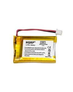 HQRP Battery for VXI Blue Parrott 052030, 502030 fits BlueParrott B250-XT, B250-XT+ Wireless Bluetooth Headset, Roadwarrior, Blue-Parrot PL602030 plus HQRP Coaster