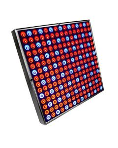 """HQRP Powerful 45W 225 Red & Blue LED Light Panel 12"""" Square Lamp for Growing Indoor Plants, Flowers, Fruits, Vegetables plus Hanging Kit + HQRP UV Meter"""
