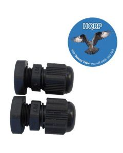 HQRP Pair Cable Glands for Solar Panel ; PV / Photovoltaic System plus HQRP Coaster