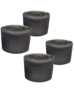 HQRP 4-pack Foam Filter Sleeve for Shop-Vac J150A J200A QAL80 QL20ATS QL20ATSP QL20TS QL30B QL30C QL30CIC 201-25-27 201-24-00 Wet Dry Vacuums