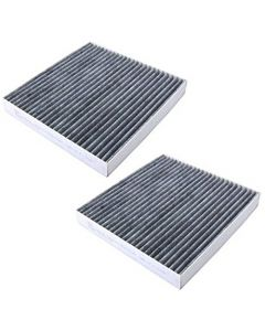 HQRP 2-Pack Carbon A/C Cabin Air Filter for Acura ILX 2013-2016; MDX, RDX 2007-2016; CSX 2007-2011 plus HQRP Coaster