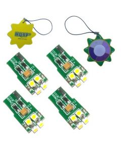 HQRP 4-Pack LED Light Bulb for Malibu ML11W4C 12 Volt Landscape Bulb Replacement plus HQRP UV Meter