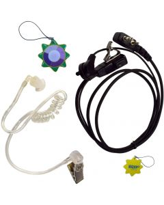 HQRP 2 Pin Acoustic Tube Earpiece Headset Mic for ICOM IC-A20 IC-A21 IC-A22 IC-A22(E) IC-A22E + HQRP UV Meter