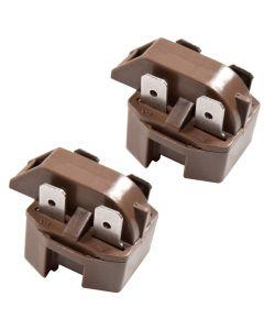 HQRP 2-Pack PTC Start Relays Starter Replacement works with Amana 2599CIWW-P1121501WW 36061-P1122001WW SCDT20H-P7836028W TC22M-P7858505W TRG18QBL-P1111310WL TZ19QL-P1111409WL plus HQRP Coaster