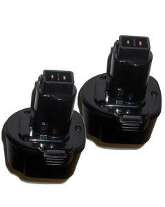 HQRP 7.2V Battery 2-Pack for DeWalt DE9057 DE9085 DW9057 DW920K DW920K2 DW925K DW925K2 DW968K DC Series + Coaster