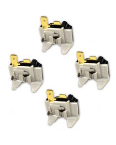 HQRP 4-Pack Refrigerator Overload C Protector Compressor Replacement for LG GC349SQF GRB218JSAA LBN22515ST LFD25860SB LRFC25750WW LTC19340SW LTC22350ST LTC22350SW LTC22350WH plus HQRP Coaster