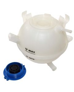HQRP Coolant Expansion Tank Replacement for Audi / Volkswagen VW 1K0121407A / 1K0 121 407A / 1K0 121 407 A plus HQRP Coaster