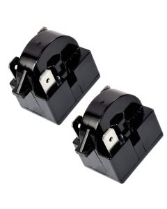 HQRP 2-Pack QP2-4R7 4.7 Ohm 3-Pin PTC Starter / Start Relay Replacement for Sunbeam SBCR033B1W Compact Refrigerator plus HQRP Coaster