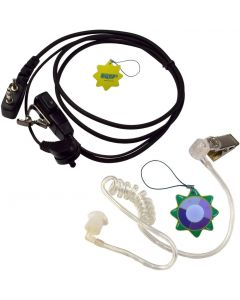 HQRP 2 Pin Acoustic Tube Earpiece Headset Mic Works with ICOM IC-2iE IC-2N IC-2SA IC-2SA(T) IC-2SAT + HQRP UV Meter