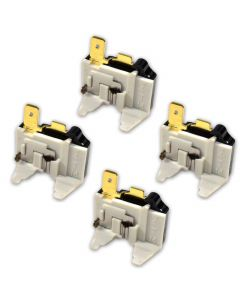 HQRP 4-Pack Refrigerator Overload C Protector Compressor for LG 6750C-0005P 6750C-0004R AH3529540 PS3529535 PS3529540 AP4439459 AP4651578 EA3529540 EAP3529535 Replacement plus HQRP Coaster
