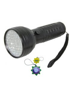 HQRP 76 LEDs UV Flashlight Blacklight 390 nm for Checking Leaks in Cooling Systems (with dyes) + HQRP UV Meter