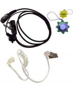HQRP 2 Pin Acoustic Tube Earpiece Headset Mic for ICOM IC-4SAT IC-4SE IC-4SE(T) IC-4SET IC-80AD + HQRP UV Meter