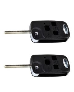 HQRP 2-Pack Upgrade Remote Flip Folding Key Fob Shell Case Keyless Entry w/ 3 Buttons for Lexus SC400 1998 1999 2000; SC430 2002 2003 2004 2005 2006 2007 2008 2009 plus HQRP UV Meter