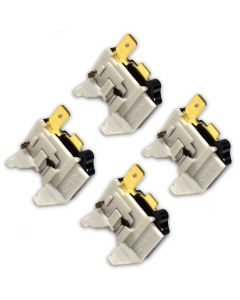 HQRP 4-Pack Refrigerator Overload C Protector Compressor Replacement for Kenmore 9569292901 79568274900 79568279900 79575554401 79575556401 79579014901 79579292900 79579292901 plus HQRP Coaster