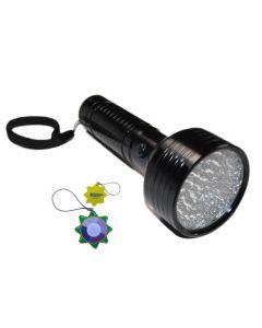 HQRP 395 nM UV Flashlight / Blacklight 68 LED for Checking Leaks in Cooling Systems (Fluorescent dye leaks) + HQRP UV Meter