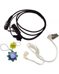 HQRP 2 Pin Acoustic Tube Earpiece Headset Mic Works with ICOM IC-2GE IC-2GXA IC-2GXA(T) IC-2GXAT UV Meter