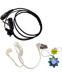 HQRP 2 Pin Acoustic Tube Earpiece Headset Mic for ICOM IC-91A IC-91A(D) IC-91AD IC-A1 IC-A2 + HQRP UV Meter
