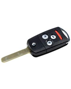 HQRP Flip Key Fob Keyless Entry Replacement for Acura MDX RDX TL TSX ZDX Honda Accord 2010 2011 2012 2013 2014 plus HQRP UV Meter