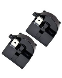 HQRP 2-Pack QP2-4R7 4.7 Ohm 3-Pin PTC Starter / Start Relay for Magic Chef 6R8MD3, AP4565041, 1206682 Replacement fits MCBR1000S MCBR1000W MCBR1010GS MCBR1010S MCBR1010W plus HQRP Coaster
