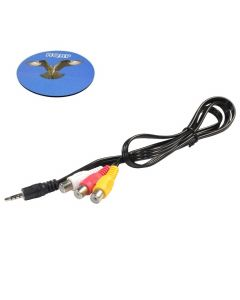 """HQRP AUX 1/8"""" (3.5mm) Male to 3 RCA Female Cable for Pioneer CD-RM10 Replacement fits Pioneer AVIC-D3, AVIC-X3, AVH-P5900DV headunit plus HQRP Coaster"""