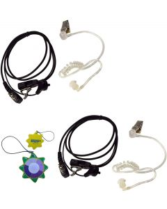 2X HQRP 2 Pin Acoustic Tube Earpiece Headsets Mic Compatible with ICOM IC-A3 IC-A3(E) IC-A3E IC-A4 IC-A4E + HQRP UV Meter