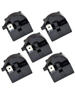 HQRP 5-Pack QP2-4R7 4.7 Ohm 3-Pin PTC Starter Start Relay for EdgeStar VBR Series Compressor Relay Replacement fits EdgeStar VBR240 VBR440 VBR640 plus HQRP Coaster