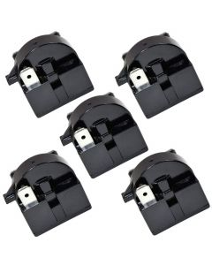 HQRP 5-Pack QP2-4R7 4.7 Ohm 3-Pin PTC Starter / Start Relay for EdgeStar VBR Series Compressor Relay Replacement fits EdgeStar VBR240 VBR440 VBR640 plus HQRP Coaster
