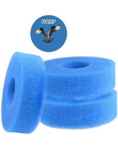 HQRP 3-Pack Foam Sponge Filter Media for Laguna Pressure-Flo 700 2500 UVC (PT1500) PT1501 PT-1501 Replacement plus HQRP Coaster