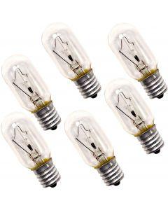 HQRP 6-Pack 40-Watt T8 40T8 Indicator Intermediate (E17) Base Tubular Incandescent Light Bulbs compatible with Appliance Microwave Oven Refrigerator Kitchen Vent Hood Range Hood Lights plus Coaster