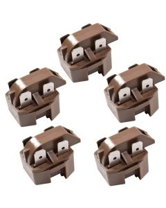 HQRP 5-Pack PTC Start Relays Starter Replacement works with Crosley CDNS24V9A-BR85C CNS20T6A-9R01A CNT19C8-7A77A CNT19L6V-5A44B CS20Y6A CS20Y6W CS22AFXKQ05 DF15J DF20J DNF20J plus HQRP Coaster