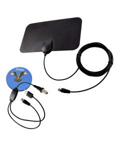 HQRP HDTV Amplified 4K 1080p 35-50 miles antenna for TCL 55C807, 65C807, 32D100, 55R617, 32S301, 32S305, 32S3750, 32S3800, 40S305, 43S403, 43S305, 43S517, 49S405, 49S517, 55S403, 55S405, 55S517