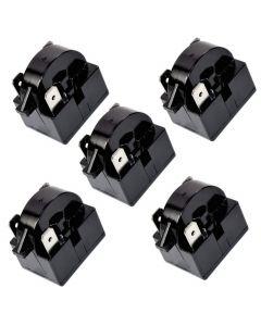 HQRP 5-Pack QP2-4R7 4.7 Ohm 3-Pin PTC Starter Start Relay Replacement for Sunbeam SBCR033B1W Compact Refrigerator plus HQRP Coaster