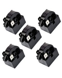 HQRP 5-Pack QP2-4R7 4.7 Ohm 3-Pin PTC Starter / Start Relay Replacement for Sunbeam SBCR033B1W Compact Refrigerator plus HQRP Coaster