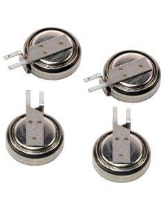 HQRP 4-Pack Battery for Gotop GT-1612-GK GT-1612-MTGN GT-1613-MTR GT-1613-MT GT-1110-TDBD GT-1110-GKGN GT-1108-MTBD GT-1108-MTR GT-1513-MTGN GPS MS621FE-FL11E Super Capacity + Coaster