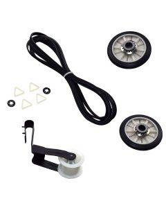 HQRP Belt Repair Kit for Whirlpool 7MWGD9014YQ1 7MWGD9015YW0 7MWGD9016YM0 8530040 8543000 8BLGR5636JQ0 8BLGR5636JQ1 AED4370TQ0 AED4470TQ0 AED4475TQ0 CEDX463SQ0 CEDX563JQ1 Dryer + Coaster