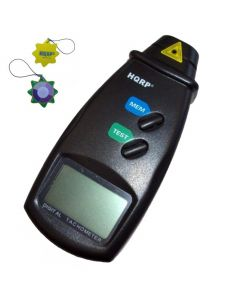 HQRP Digital Laser Photo Tachometer Non Contact Tach for Measuring Rotating Speed of Machines, Motors, Mechanisms, Model cars, Wheels + HQRP UV Meter