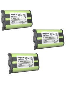 HQRP 3-Pack Battery for Panasonic KX-TG5230 KX-TG5240 KX-TG5243 KX-TG5428 KX-TG5480 KX-TG5561 KX-TG2313P KX-TG2313W KX-TG2314PK KX-TG2312 KX-TG2314 KX-TG2335 KX-TG2344 Cordless Phone + Coaster