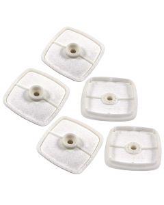 HQRP Air Filter (5-pack) for ECHO HC-150 HC-160 HC-180 HC-200 HC-225 HC-230 HC-245 HC-1500 HC-1600 HC-1800 HC-2000 HC-2400 HC-2410 HC-2420 HC-3020 Hedge Trimmer + HQRP Coaster