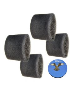HQRP 4-pack Foam Filter Sleeve for Shop-Vac 8040 8045 8045A 8050A 500M 500X 5010 5015 5020 5025 5275 Wet Dry Vac Vacuums