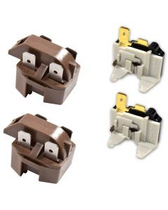 HQRP 2-Pack Refrigerator Compressor PTC Starter Start Relay and Overload Kit Replacement compatible with Whirlpool 4387913 PS371538 AP3108669 283ULBYY-53 819099 2154759