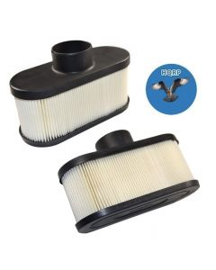 HQRP 2-pack Air Filter for John Deere WG32A WG36A WG48A WHP36A WHP48A WH36A WH48A WH52A Commercial Walk Behind Mower + HQRP UV Meter