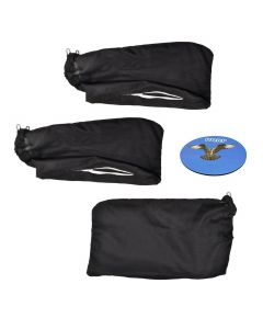 HQRP Dust Bag (3-pack) for Hitachi C10FA C10FB C15FB C10FCB C10FCE C10FCE2 C10FCH C10FCH2 C10FS C10FSB C10FSH 10-inch Miter Saws + HQRP Coaster