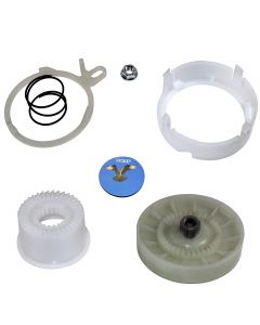 HQRP Cam Clutch Kit for Kenmore 1105142510, 1105142511, 1105142512, 11020222510, 11020222511, 11020232710, 11020232711, 11020242510, 11020242511, 11020362810 Washer Drive Pulley + HQRP Coaster