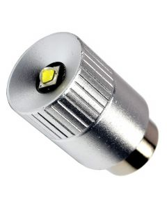 HQRP Ultra Bright 300Lm High Power 3W LED Conversion Upgrade Bulb for Mag-Lite 2 3 D C Cell Flashlight Torch LMSA201 Mag-num Star Xenon Lamp + Coaster