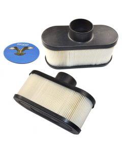 HQRP 2-pack Air Filter for Cub Cadet LTX 1050, LTX 1046, RZT 50, RZT 54, RZT L46, RZT L50, RZT L54, XT2 GX5, XT2 LX4, XT2 LX5 series Lawn Tractors + HQRP UV Meter