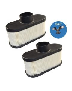 HQRP 2-pack Air Filter for Cub Cadet Z-Force S48, S54, S60, LX48, LX54, LX60, LZ48, LZ54, LZ60, SX48, SX54, SX60, SZ48, SZ54, SZ60 KW series Lawn Tractors + HQRP UV Meter