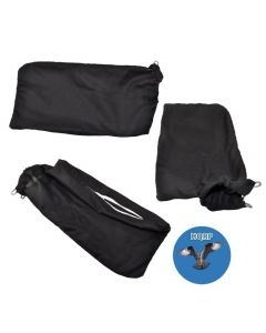 """HQRP Dust Bag (3-pack) for Hitachi 322955 / 976478 / 998-845 Replacement fits Hitachi 10"""" and 12"""" Compound Miter Saws + HQRP Coaster"""