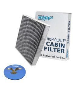 HQRP Carbon A/C Cabin Air Filter for Lexus LX570 2008-2015 ; RX350 RX450h 2010-2015 ; IS250 IS350 ISC IS-F 2006-2013 plus HQRP Coaster