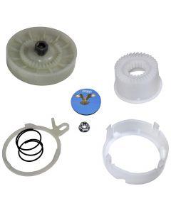 HQRP Cam Clutch Kit for Whirlpool 7MWTW1705BQ0, 7MWTW1706YM0, 7MWTW1709DM1, 7MWTW1709YM0, 7MWTW1709YM1, 7MWTW1710YM0, 7MWTW1710YM1 Washer Drive Pulley + HQRP Coaster