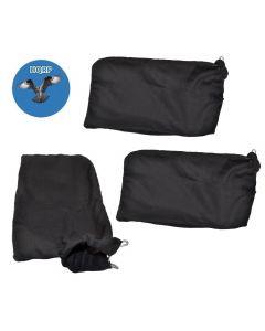 HQRP Dust Bag (3-pack) for Hitachi C12FA C12FCH C12FDH C12FSA C12LC C12LCH C12LDH C12LSH C12RSH C12RSH2 12-inch Miter Saws + HQRP Coaster
